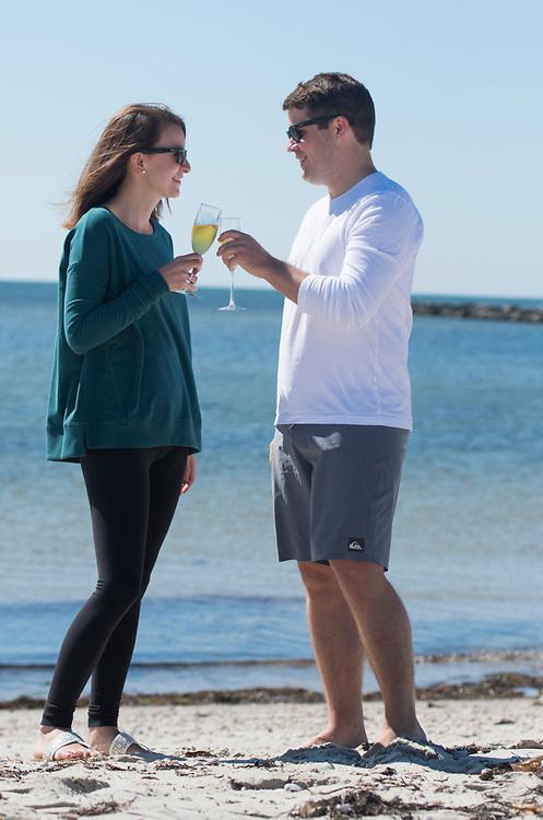 Ryan's proposal to Britt at West Dennis Beach on Cape Cod