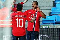 Fotball , 11. juni 2013 , Privatkamp , Norge - Makedonia<br /> Norway - FYR Macedonia 2-0<br /> <br /> Daniel Braaten ,  , Norge jubel med Tarik Elyounoussi , Norge
