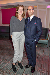 STANLEY TUCCI and FELICITY BLUNT at the 2016 Fortnum & Mason Food & Drink Awards held at Fortnum & Mason, Piccadilly, London on 12th May 2016.