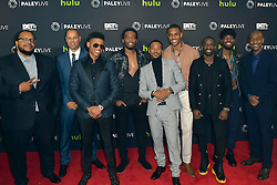 December 14, 2016 - Beverly Hills, Kalifornien, USA - Chris Robinson, Jesse Collins, Bryshere Y. Gray, Woody McClain, Algee Smith, Keith Powere, Elijah Kelly Luke James and Stephen G. Hill bei der Premiere der BET TV-Miniserie 'The New Edition Story' im Paley Center for Media. Beverly Hills, 14.12.2016 (Credit Image: © Future-Image via ZUMA Press)