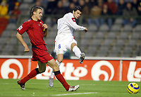 Fotball<br /> VM-kvalifisering<br /> Gruppe 7<br /> Belgia v Serbia Montenegro<br /> 17. november 2004<br /> Foto: Digitalsport<br /> NORWAY ONLY<br /> GOAL MATEJA KEZMAN (SER) / TIMMY SIMONS (BEL)