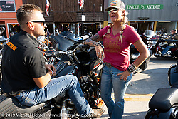 Main Street during the Sturgis Motorcycle Rally. SD, USA. Saturday, August 14, 2021. Photography ©2021 Michael Lichter.