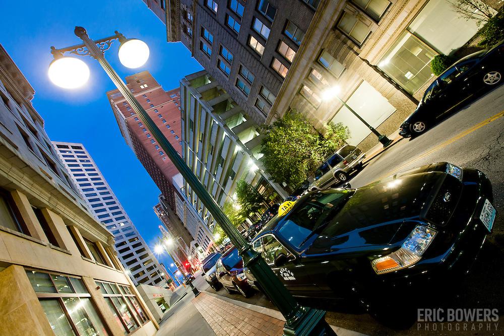 Baltimore Street in the evening, Kansas City, MO.