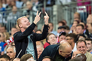 english fans showing results  during the FIFA World Cup Qualifier match between England and Slovakia at Wembley Stadium, London, England on 4 September 2017. Photo by Sebastian Frej.