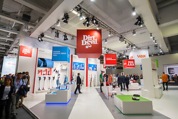 Dirt Devil vacuum cleaner stand at 2016  IFA (Internationale Funkausstellung Berlin), Berlin, Germany
