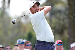 March 15, 2019 - Ponte Vedra Beach, FL, U.S. - PONTE VEDRA BEACH, FL - MARCH 15: Jason Day of Australia hits a tee shot on the ninth hole during the second round of THE PLAYERS Championship on March 15, 2019 on the Stadium Course at TPC Sawgrass in Ponte Vedra Beach, Fl.  (Photo by David Rosenblum/Icon Sportswire) (Credit Image: © David Rosenblum/Icon SMI via ZUMA Press)