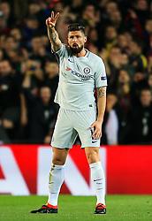 Olivier Giroud of Chelsea gestures towards the referee - Mandatory by-line: Matt McNulty/JMP - 14/03/2018 - FOOTBALL - Camp Nou - Barcelona, Catalonia - Barcelona v Chelsea - UEFA Champions League - Round of 16 Second Leg
