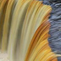 """""""Flow of Golden Ribbons""""<br /> <br /> Enjoy the sheer beauty and color in streaming ribbons of Tahquamenon Falls!!<br /> <br /> Waterfalls by Rachel Cohen"""