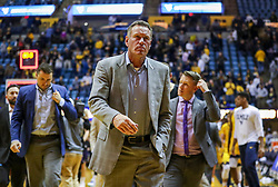 Mar 20, 2019; Morgantown, WV, USA; Grand Canyon Antelopes head coach Dan Majerle walks off the floor after falling to the West Virginia Mountaineers at WVU Coliseum. Mandatory Credit: Ben Queen