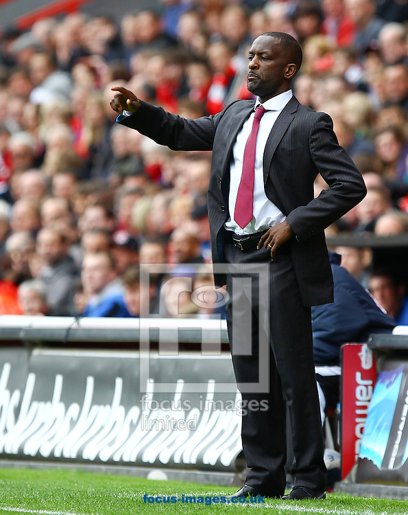 Picture by John Rainford/Focus Images Ltd. 07506 538356.05/05/12.Chris Powell, manager of Charlton Athletic during the Npower League 1 match at The Valley stadium, London.