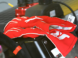 February 23, 2019 - Hampton, GA, U.S. - HAMPTON, GA - FEBRUARY 23: The racing gloves of Joey Logano, Team Penske, Ford Mustang Shell Pennzoil (22) sit on the dashboard of the car during practice for the Monster Energy Cup Series QuikTrip Folds of Honor 500 on February 23, 2019, at Atlanta Motor Speedway in Hampton, GA.(Photo by Jeffrey Vest/Icon Sportswire) (Credit Image: © Jeffrey Vest/Icon SMI via ZUMA Press)