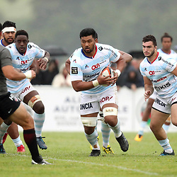Sootala Fa'Aso'O of Racing 92 during the pre-season match between Stade Toulousain Toulouse and Racing 92 at  on August 18, 2017 in Lannemezan, France. (Photo by Manuel Blondeau/Icon Sport)