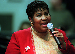 Aretha Franklin Died at 76 on August 16, 2018 - Aretha Franklin sings at a holiday concert in Detroit, Mich. at Sinai Hosptial on December 30, 1998. Photo by John Collier/Detroit Free Press/TNS/ABACAPRESS.COM