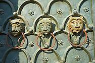 Detail of the broze door of St Mark's Basilica, Venice