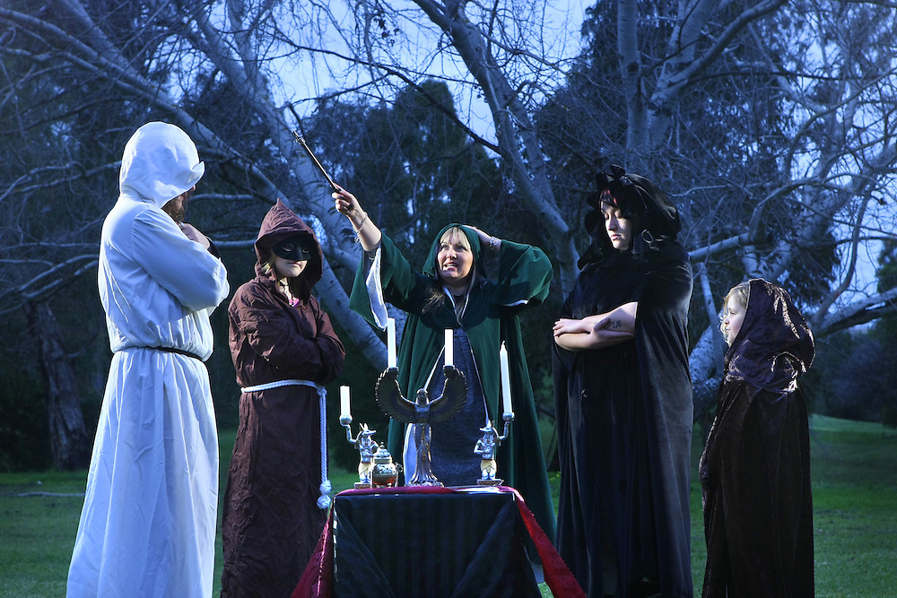 How is Julia Gillard seen by religions? Witches perform a pagan ritual at Spring Gully Reserve East Keilor. Left to right, Peter, Leanne, Lizzy Rose  celebrity psychic, Order of Wisdom, Learning & Light OWLL , Purple  her real name , Alchemy  - Pic By Craig Sillitoe 17/07/2010 SPECIAL 000 melbourne photographers, commercial photographers, industrial photographers, corporate photographer, architectural photographers, This photograph can be used for non commercial uses with attribution. Credit: Craig Sillitoe Photography / http://www.csillitoe.com<br /> <br /> It is protected under the Creative Commons Attribution-NonCommercial-ShareAlike 4.0 International License. To view a copy of this license, visit http://creativecommons.org/licenses/by-nc-sa/4.0/.