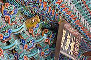 Beomeosa Temple. Roof paintings.