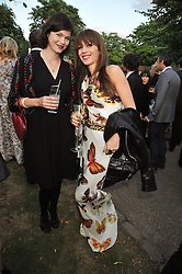 Left to right, JASMINE GUINNESS and LARA BOHINC at the annual Serpentine Gallery Summer Party sponsored by Canvas TV  the new global arts TV network, held at the Serpentine Gallery, Kensington Gardens, London on 9th July 2009.