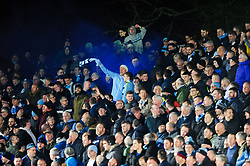 Manchester City celebrate after Leroy Sane of Manchester City scores his sides first goal of the game - Mandatory by-line: Ryan Hiscott/JMP - 16/02/2019 - FOOTBALL - Rodney Parade - Newport, Wales - Newport County v Manchester City - Emirates FA Cup fifth round proper