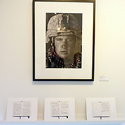 """Exhibition of Garmsir Marines work in the Houston Center of Photography with personal diaries by Louie Palu. This was part of a group show named """"Soldier, at Ease"""" with Erin Trieb and Tim Hetherington's work.<br /> (Credit Image: © Louie Palu/ZUMA Press)"""