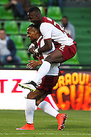 Joie Metz - Florent MALOUDA - 18.04.2015 - Metz / Lens - 33eme journee de Ligue 1<br />