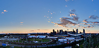 As seen from Tom Campbell's Hill overlooking Stampede Park and the Calgary Saddledome..©2010, Sean Phillips.http://www.RiverwoodPhotography.com