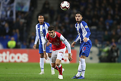 November 10, 2018 - Porto, Porto, Portugal - Sporting Braga's Portuguese forward Paulinho (L) vies with Porto's Brazilian defender Alex Telles (R) during the Premier League 2018/19 match between FC Porto and SC Braga, at Dragao Stadium in Porto on November 9, 2018. (Credit Image: © Dpi/NurPhoto via ZUMA Press)