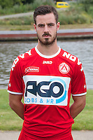 Kortrijk's Baptiste Ulens poses for the photographer during the 2014-2015 season photo shoot of Belgian first league soccer team KV Kortrijk, Tuesday 08 July 2014 in Kortrijk.