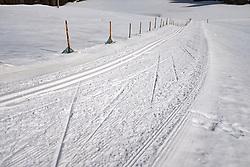 THEMENBILD - Langlaufloipe. Kals am Großglockner, Österreich am Samstag, 3. März 2018 // Cross Country skiing track. Saturday, March 3, 2018 in Kals am Grossglockner, Austria. EXPA Pictures © 2018, PhotoCredit: EXPA/ Johann Groder