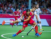 ANTWERP - BELFIUS EUROHOCKEY Championship  . Belgium v Spain (men) (5-0). Thomas Briels (Belgie) with  Llorenc Piera (Esp)  . WSP/ KOEN SUYK