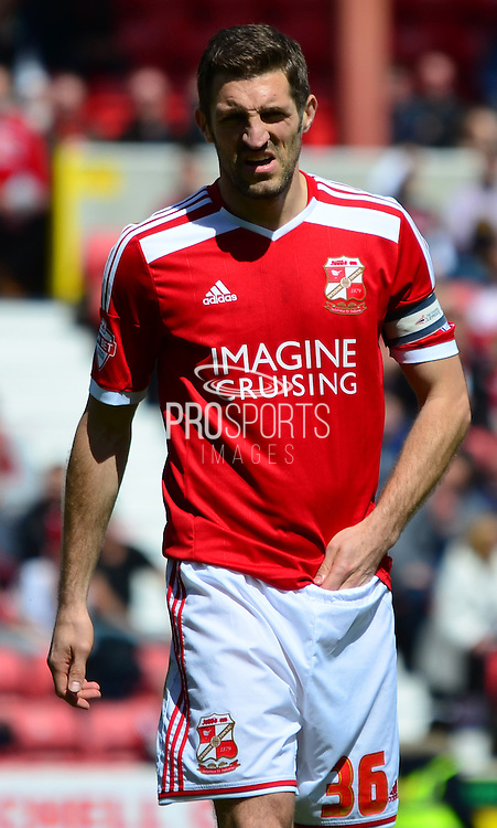 Samuel Ricketts during the Sky Bet League 1 match between Swindon Town and Leyton Orient at the County Ground, Swindon, England on 3 May 2015. Photo by Alan Franklin.