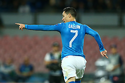 September 26, 2017 - Naples, Campania, Italy - Jose Maria Callejon of Napoli celebration after the goal of 3-0 scored  during the UEFA Champions League group F match between SSC Napoli and Feyenoord at Stadio San Paolo on September 26, 2017 in Naples, Italy. (Credit Image: © Matteo Ciambelli/NurPhoto via ZUMA Press)