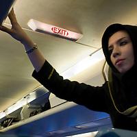Air hostess.