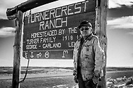 LJ Turner, rancher.  The Turnercrest Ranch is in the center of the Powder River Basin coal strip mines.   The family homesteaded the ranch in 1918.  They have lost over 6,000 acres to the strip mines.