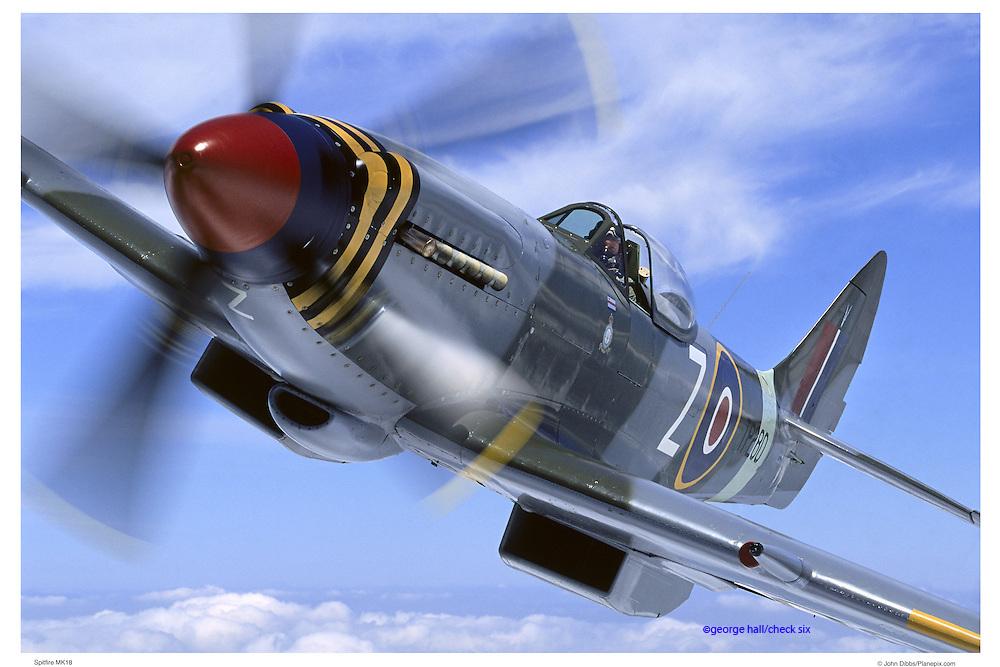 Spitfire MK18, aerial close up