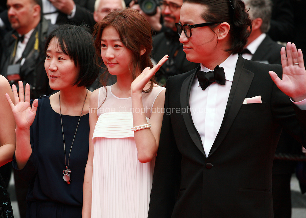 Doona Bae, Kim Sae Ron, July Jung and Song Sae Byuk at the Foxcatcher gala screening red carpet at the 67th Cannes Film Festival France. Monday 19th May 2014 in Cannes Film Festival, France.