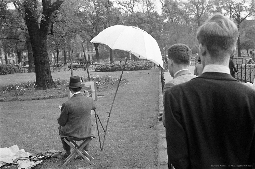 Sketching, Hyde Park, London, 1934