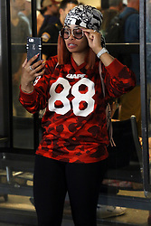 Black Chyna is seen arriving at LAX airport.<br /><br />21 August 2017.<br /><br />Please byline: Vantagenews.com
