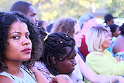 August 22, 2015- Brooklyn, NY-United States:  Concert Goers attend the 2015 AFROPUNK Festival on August 22, 2015 held at Commodore Barry Park in Brooklyn, New York City.  AFROPUNK is an influential community of young, gifted people of all backgrounds who speak through music, art, film, comedy, fashion and more. Originating with the 2003 documentary that highlighted a Black presence in the American punk scene, it is a platform for the alternative and experimental.(Terrence Jennings/terrencejennings.com)