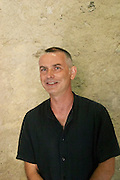 Thierry Parcé who runs the domain together with his brother Marc Parcé Domaine de la Rectorie. Roussillon. Owner winemaker. France. Europe.