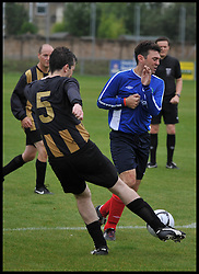 Shadow Secretary of State for Health Andy Burnham playing in the Labour Politicians v Reporter's Football match at the Labour Party Autumn Conference. Sunday, 22nd September 2013. Picture by Andrew Parsons / i-Images
