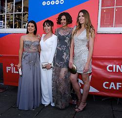 Edinburgh International Film Festival 2019<br /> <br /> H0us3 (International Premiere)<br /> <br /> Stars arrive on the red carpet for the international premiere<br /> <br /> Pictured: Cristina Raya, Anna Bertran, Miriam Tortosa and Mariona Tena<br /> <br /> Aimee Todd   Edinburgh Elite media
