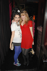 Left to right, NURA KHAN and EMMA WIGAN at a pajama party at The Cuckoo Club, Swallow Street, London on 2nd April 2008.<br /><br />NON EXCLUSIVE - WORLD RIGHTS