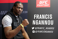07.04.2016, Zagreb, CRO, UFC Fight Night, Pressekonferenz, im Bild Francis Ngannou // Fighters during the press conference before UFC Fight Night at Zagreb, Croatia on 2016/04/07. EXPA Pictures © 2016, PhotoCredit: EXPA/ Pixsell/ Dalibor Urukalovic<br /> <br /> *****ATTENTION - for AUT, SLO, SUI, SWE, ITA, FRA only*****
