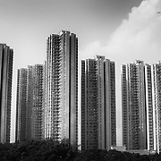 A residential skyline as captured from a distance. Hong Kong, 2006. Photo: © Rod Mountain