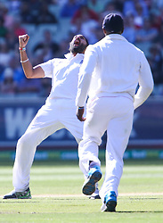 © Licensed to London News Pictures. 27/12/2013. Monty Panesar celebrates after getting a wicket during Day 2 of the Ashes Boxing Day Test Match between Australia Vs England at the MCG on 27 December, 2013 in Melbourne, Australia. Photo credit : Asanka Brendon Ratnayake/LNP