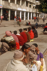 Main shopping centre in central Chandigarh; India,