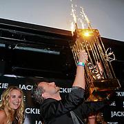 NLD/Amsterdam/20110630 - Uitreiking Jackie's Bachelor List 2011, Lieke van Lexmond met winnaar Fred van Leer
