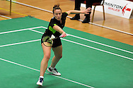 Yonex Welsh Badminton Championships 2011, action from day 2 at the Welsh national sports centre, Sophia Gardens in Cardiff on Friday 2nd Dec 2011. pic by Andrew Orchard