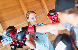 19.06.2017, Powerhof, Adnet, AUT, OeSV, Boxtraining Damen Slalom Team, im Bild Julia Grünwald (AUT) // during a Boxing Training Camp of the Austrian Ladies Slalom Team at the Powerhof in Adnet, Austria on 2017/06/19. EXPA Pictures © 2017, PhotoCredit: EXPA/ JFK