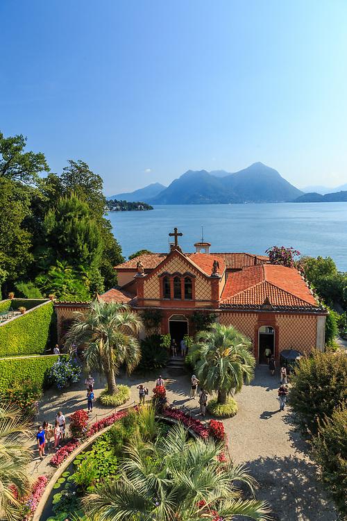 Family chapel at Isola Madre at Lago Di Maggiore, Italy.